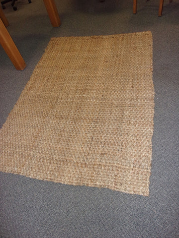 Rug woven burlap rustic style 21020