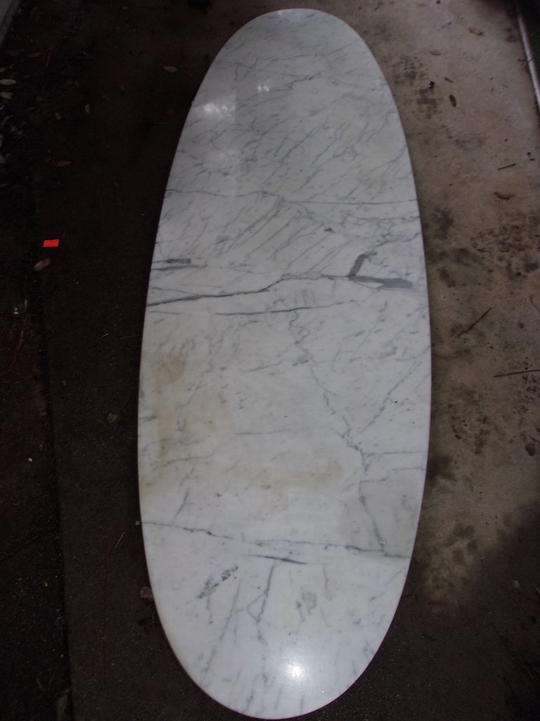 Oval marble coffee table top 21138