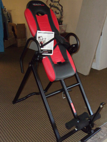 Health Gear Deluxe inversion table with heat and massage LIKE NEW 21170