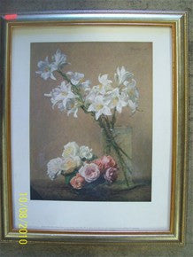 Framed picture, floral 1527162