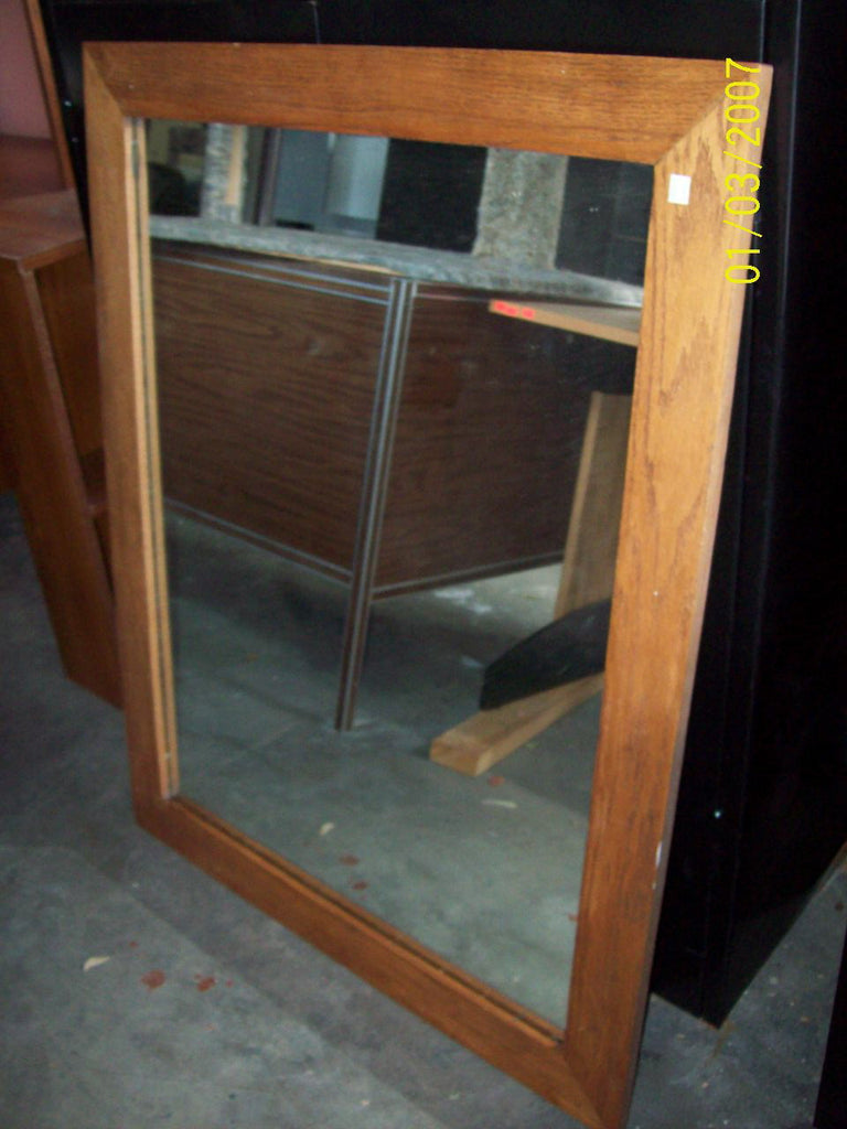 Mirror with wood frame 8225