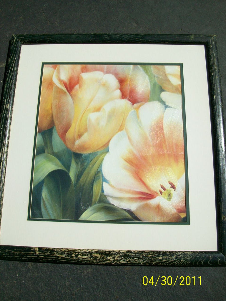 Print, tulips, glass 8418
