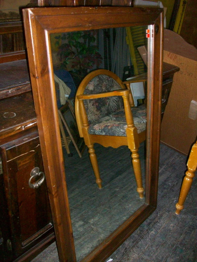 Mirror, knotty pine frame 9877