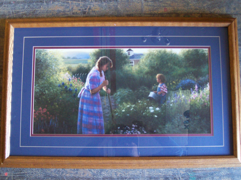 Print, Garden w/ Mother & Son 6412