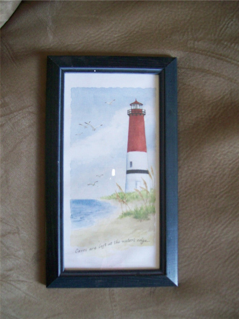 Print, Framed Lighthouse, Watercolor 9991
