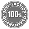 Image of 100% Satisfaction Guaranteed with 30 Day mony back and lifetime replacement warranty.