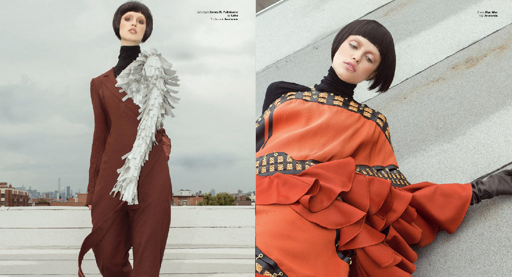 Anatomie Goes High Fashion in Solstice Magazine