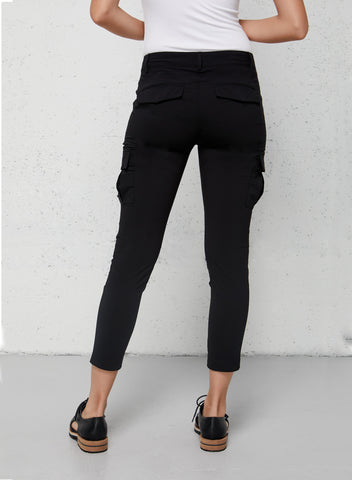 Viva Cropped Cargo Pant - Back Functional Pockets