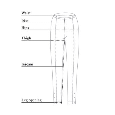 Aida Lycra Fleece Lined Legging Size Chart