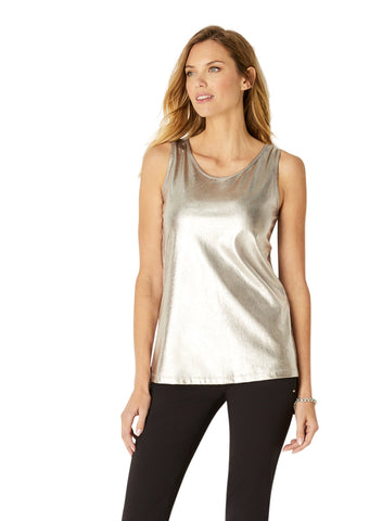 The Amaya Metallic Knit Tank