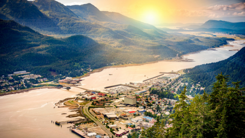 Best Destinations Sunset over Juneau Alaska
