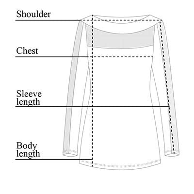 Angel Mesh Top Size Chart