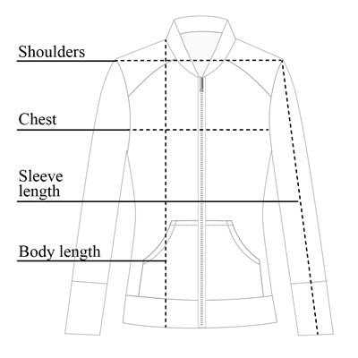 Bailey Mesh Jacket Size Chart
