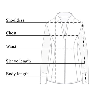 Beth Button-Front Shirt Size Chart