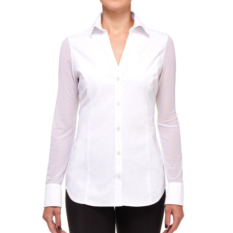 Wrinkle-Free Travel Clothing The Beth Button-Front Shirt