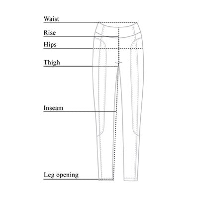 Bleeker Compression Mesh Legging Size Chart