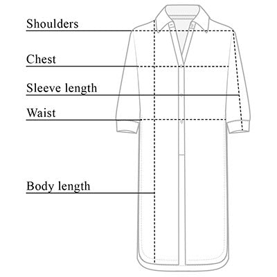 Cece Button Down Tunic Size Chart
