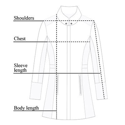 Travel City Slick Jacket Size Chart