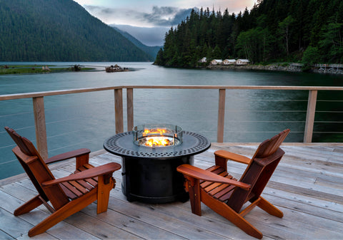Relax by the firepit and overlook mountain tops paired with relaxing water with Karimah Dossa, Anatomie Escape Artist
