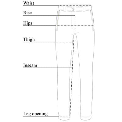 Susan Cozy Fleece-Lined Pant Size Chart