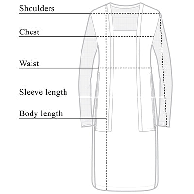 Dawn High Low Wrinkle Free Travel Cardigan Size Chart