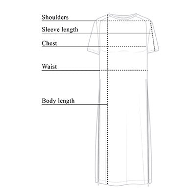 Devia Side-Zip Dress Size Chart