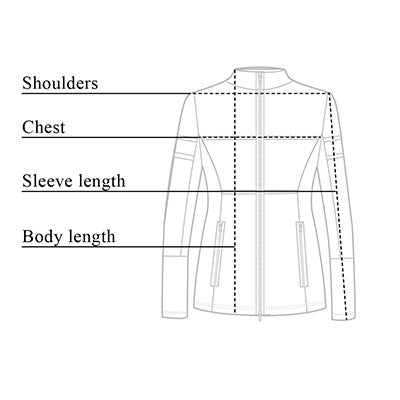 Erin Perforated Leather Jacket Size Chart