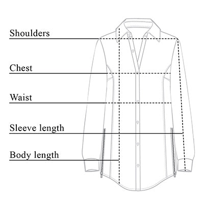 Francine Striped Shirt Size Chart