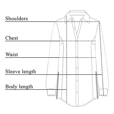 Francine Wrinkle Free Button Down Size Chart