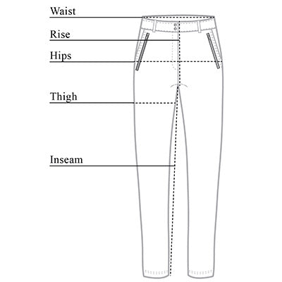 Gail High Waisted Pant Size Chart