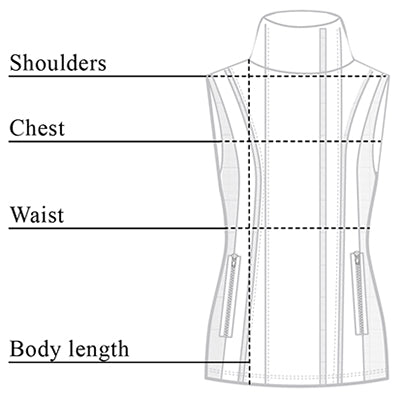 Iris Moto Leather Vest Size Chart
