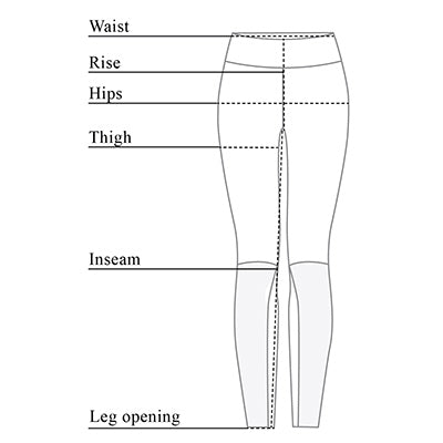 Italia Faux Leather Legging Size Chart