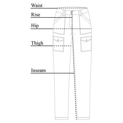 Kate Skinny Cargo Pant Size Chart