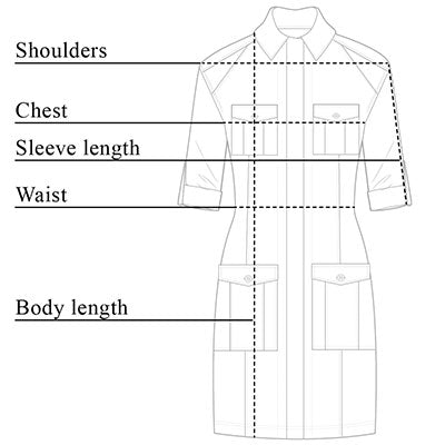 Lina Cargo Dress Size Chart