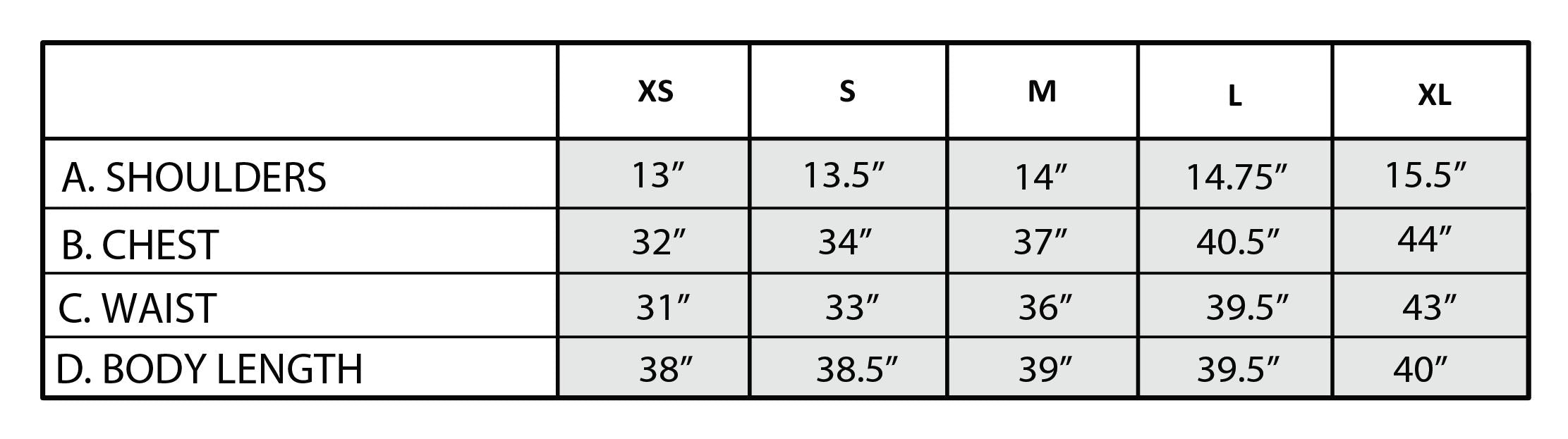 Sydney Relaxed Fit Polo Dress Size Chart