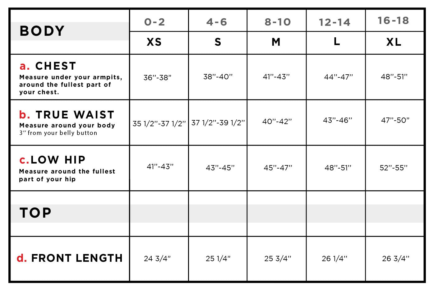 Aarthi Insulated Reversible Vest Size Chart