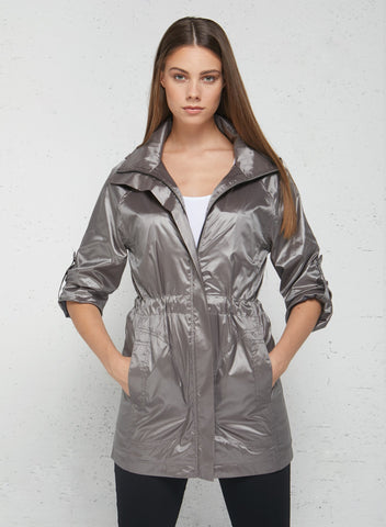 European Street Style The Metallic Travel Merika Windbreaker