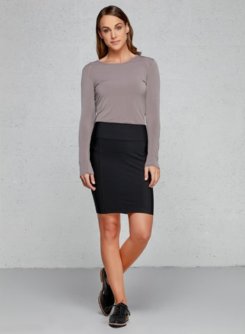 Business Casual Attire The Rita Pull On Fleece Skirt