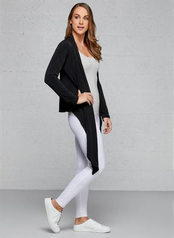 Business Causal Attire The Cozi Wrap Travel Cardigan.