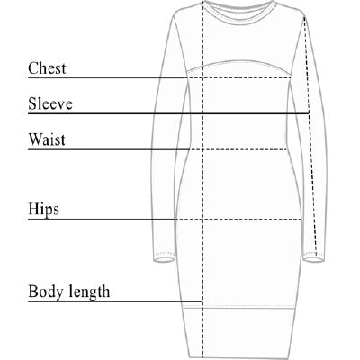 Budah Mesh Dress Size Chart
