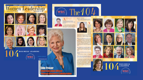 March issue of Women Leadership Magazine USA featuring the Women Business Collaborative and you: celebrating your work and thoughts on women's business leadership in 2021