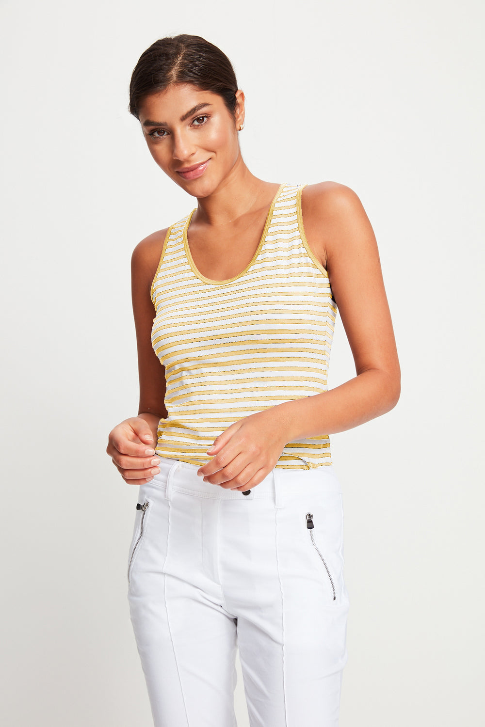 Yellow/White Stripe||