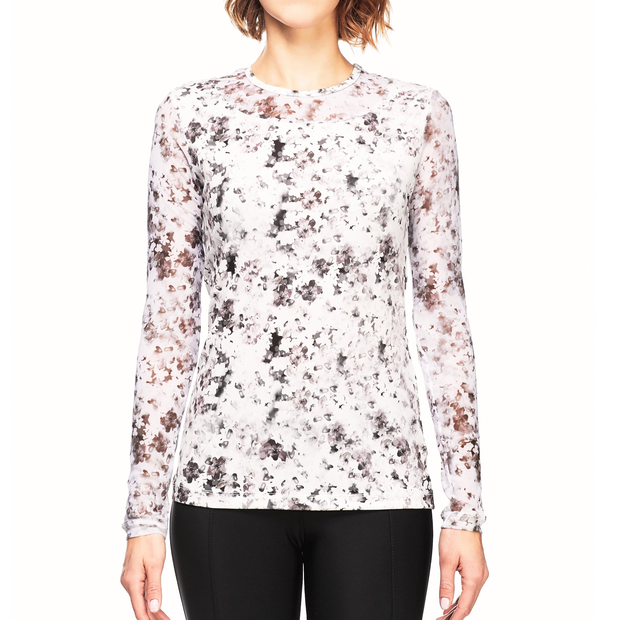 Women\'s Lightweight Kim Blossom Print Long Sleeve Top | Anatomie