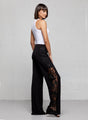 Alexa Lace Panel Wide Leg Pant