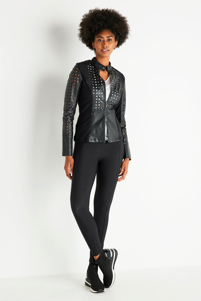 Loretta Perforated Leather Jacket