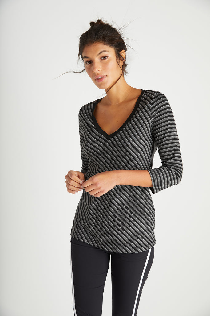 Stripe-Black-Grey||