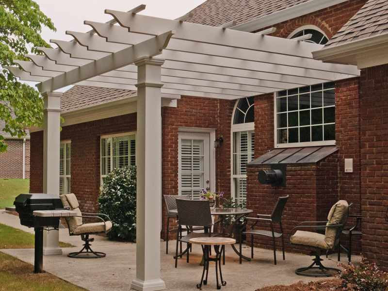 Arbor Direct Fiberglass Square Column Pergola Attached House Serie Perfect Arbor Beautiful Pergola Attached To House