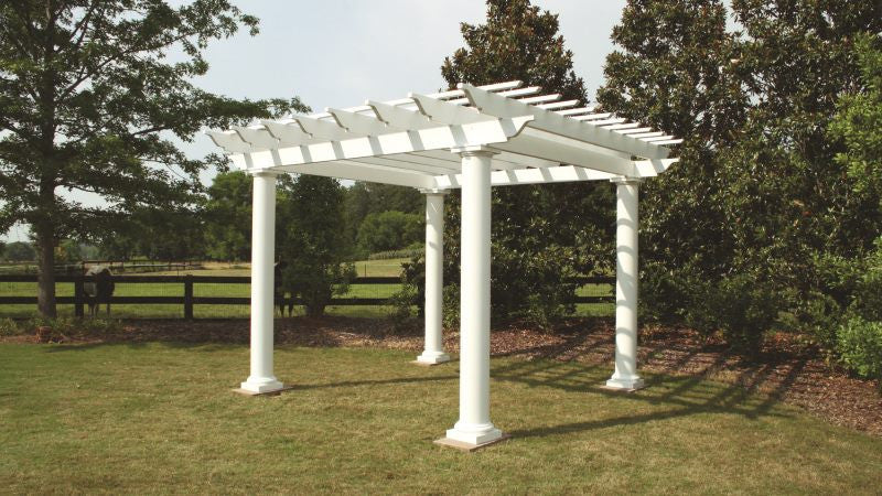 Arbors Direct Fiberglass Column Pergola 12' x 12' - Perfect Arbors - 3 ... - Arbors Direct Fiberglass Column Pergola 12' X 12' - Perfect Arbors