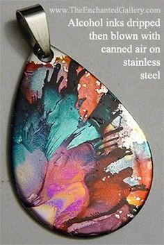 alcohol ink on metal