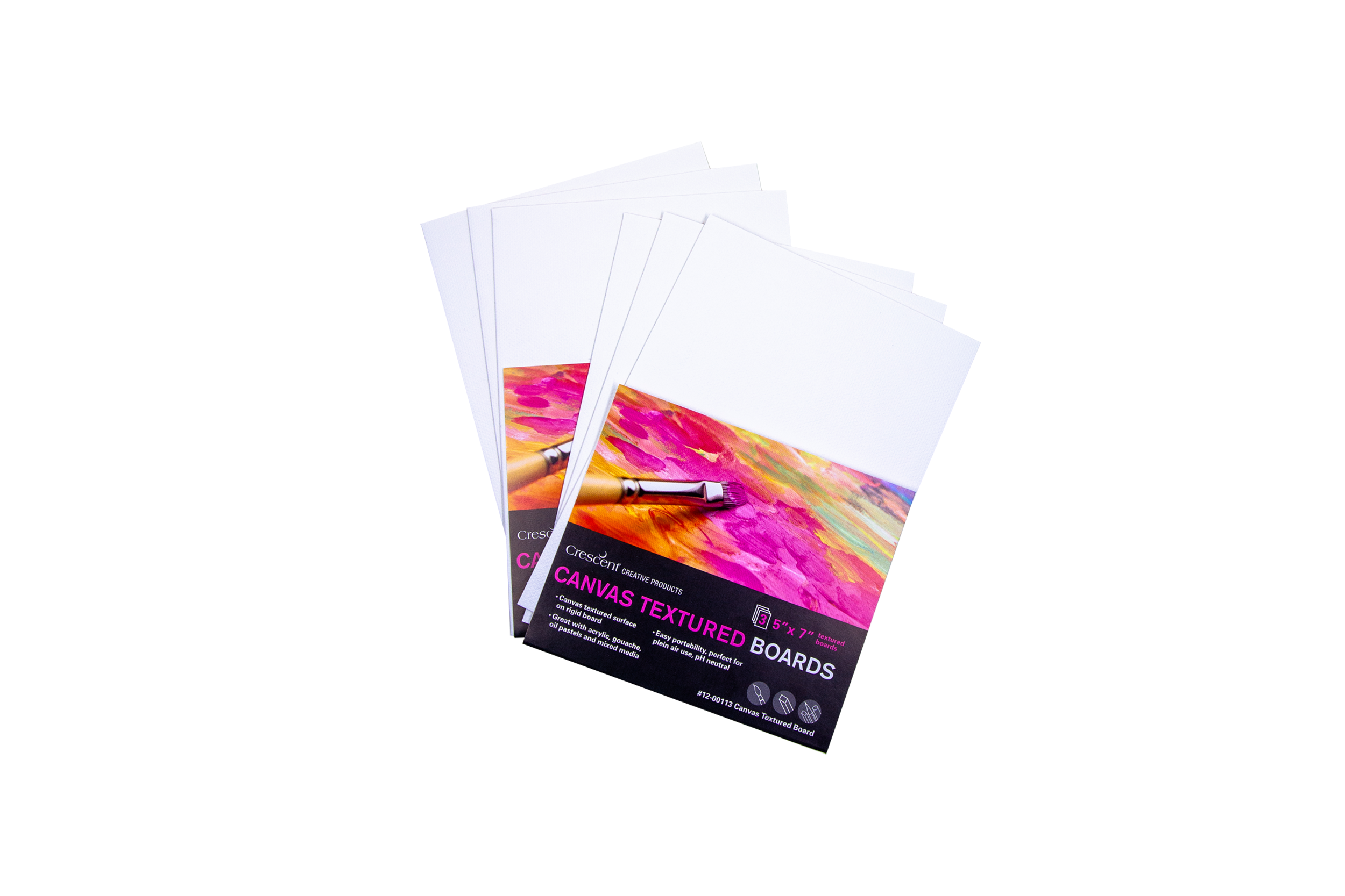 Crescent Canvas Boards - 5x7 three pack